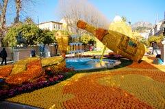 Het Festival van de citroen (Fete du Citron) - Menton, Frankrijk Stock Afbeelding