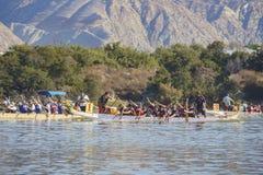 Het festival van de draakboot in Santa Fe Dam Recreation Area royalty-vrije stock foto