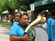 Het Festival 2018 van de Gucatrompet royalty-vrije stock fotografie
