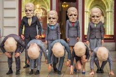 Het festival van de het Theaternacht van Krakau - KTO Teatre in Hoofdmarktvierkant Royalty-vrije Stock Foto's