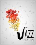Het festival van de jazzmuziek Het malplaatje van de affiche stock illustratie