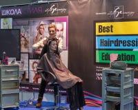 Het festival van de Kyivmanier 2016 van mode in Kiev, de Oekraïne Stock Foto's