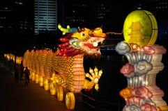 Het Festival van de lantaarn in Singapore, Draak Stock Afbeeldingen