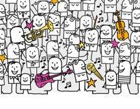 Het festival van de muziek Stock Afbeeldingen