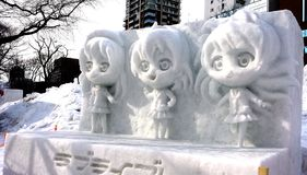 Het Festival van de Sapporosneeuw Stock Fotografie