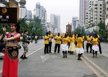 Het festival van de werelderfenis in Chengdu, China Stock Foto