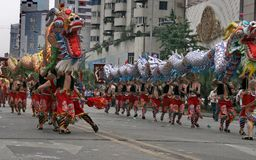 Het festival van de werelderfenis in Chengdu, China Stock Afbeelding