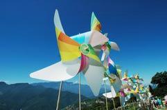 Het festival van de windmolen stock afbeeldingen