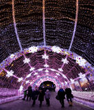 Het festival van de winterkerstmis in Moskou Rusland Stock Foto
