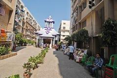 Het Festival van Durga van het huishouden van Kolkata Stock Foto