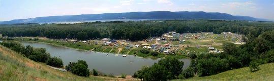 Het festival van Grushinskiy over meren Mastrukov Royalty-vrije Stock Fotografie