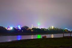 Het Festival van het Eiland Wight bij Nacht Stock Foto