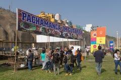 Het Festival 2015 van het Misturavoedsel in Lima, Peru stock foto's