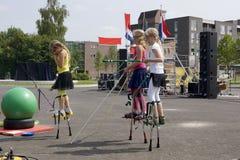 Het festival van het straattheater in Doetinchem, Nederland op 1 Juli stock afbeeldingen