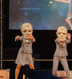 Het festival van het straattheater in Krakau Stock Fotografie