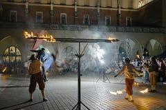 Het festival van het straattheater in Krakau Royalty-vrije Stock Afbeeldingen