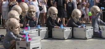 Het festival van het straattheater in Krakau Stock Foto's