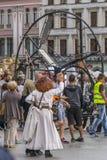 Het festival van het straattheater in Krakau Royalty-vrije Stock Afbeelding