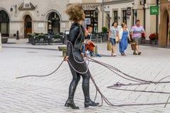 Het festival van het straattheater in Krakau Stock Foto