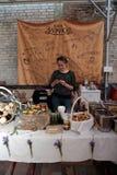 Het Festival van het straatvoedsel in Kyiv, de Oekraïne Royalty-vrije Stock Afbeelding