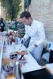 Het Festival van het straatvoedsel in Kyiv, de Oekraïne Stock Afbeeldingen