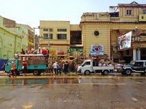 Het Festival van het Thingyanwater in Yangon, Myanmar Royalty-vrije Stock Afbeeldingen