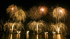 Het festival van het vuurwerk stock foto