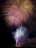 Het festival van het Vuurwerk van de zomer Stock Foto's
