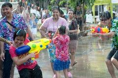 Het festival van het water in Thailand. Royalty-vrije Stock Foto
