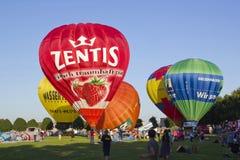 Het festival van hete luchtballons Stock Foto's