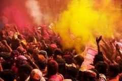 Het festival van Holi Stock Fotografie