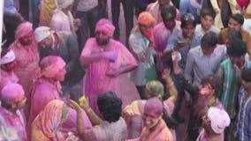 Het festival van Holi in India stock footage