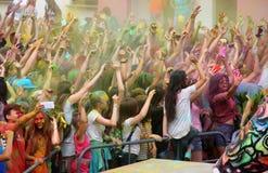 Het Festival van Holi van Kleuren Stock Afbeeldingen