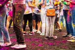 Het Festival van Holi van kleuren Stock Foto