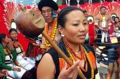 Het Festival van Hornbill van nagaland-India. royalty-vrije stock fotografie