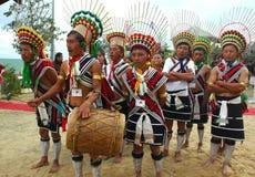 Het festival van Hornbill van nagaland-India royalty-vrije stock fotografie