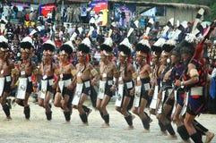 Het Festival van Hornbill van nagaland-India. royalty-vrije stock afbeelding