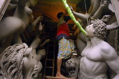 Het Festival van idool-Durga van de Klei van India Stock Fotografie