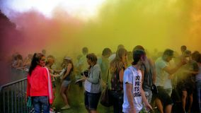 Het festival van kleuren Holi Stock Fotografie