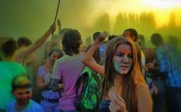 Het festival van kleuren Holi Royalty-vrije Stock Afbeelding