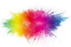 Het festival van kleurenholi Kleurrijke explosie voor Gelukkig Holi-poeder stock foto