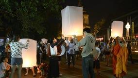 Het festival van Krathong van Loy stock footage