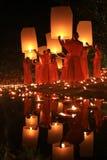 Het Festival van Kratong van Loy, Boedha Stock Fotografie