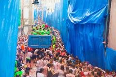 Het festival van La Tomatina Royalty-vrije Stock Fotografie