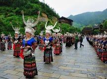 Het festival van Miao stock afbeeldingen