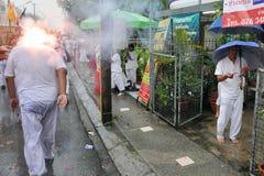Het festival van Negen Goden van de Keizer in Phuket Stock Foto