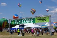 Het Festival van New Jersey Ballooning in Whitehouse-Post stock fotografie