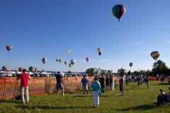 Het Festival van New Jersey Ballooning in Whitehouse StationNew Jersey stock foto's