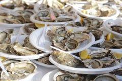 Het Festival van oesterparty_montmartre in Parijs Stock Foto's