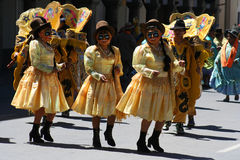 Het festival van Oruro stock fotografie